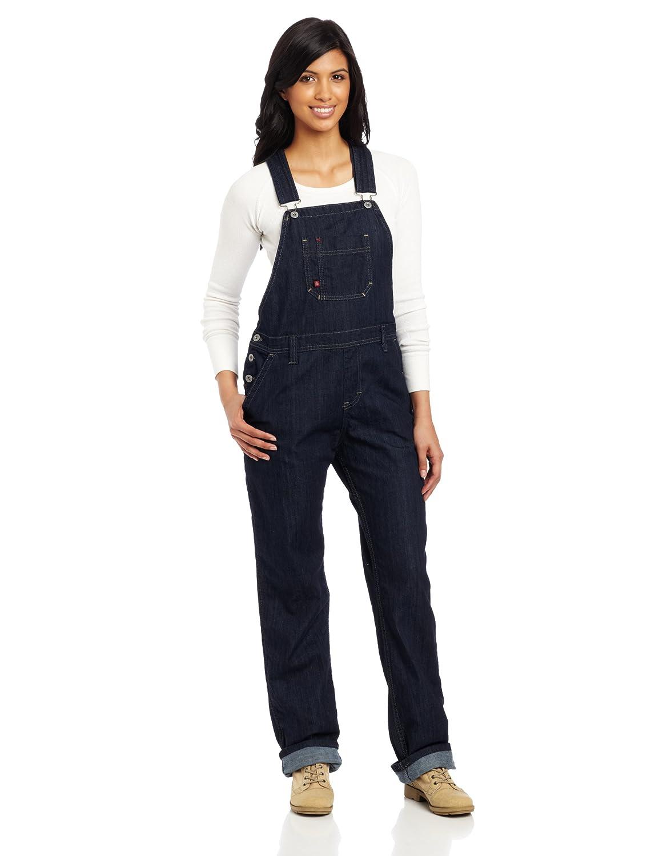 Dickies Women's Denim Bib Overall 100% Cotton Denim with ScuffGard FB206