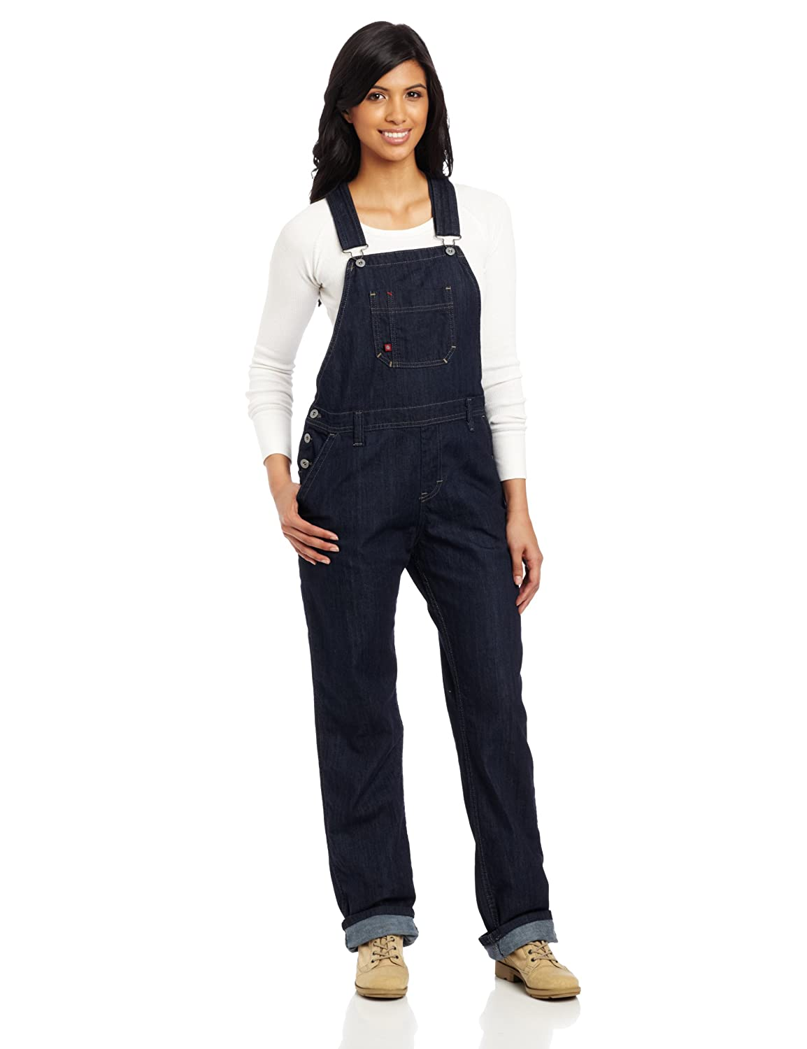 Vintage Overalls 1910s -1950s History & Shop Overalls Dickies Womens Denim Bib Overall $44.99 AT vintagedancer.com