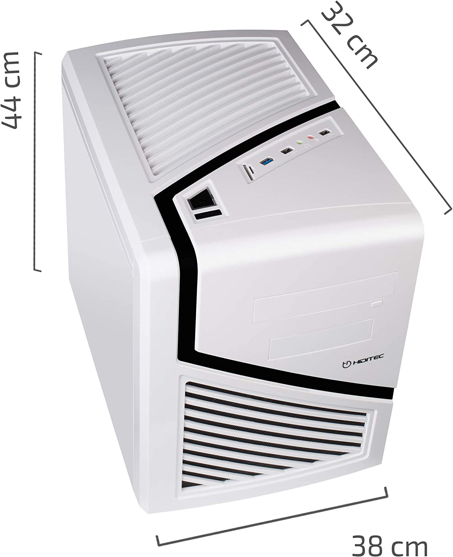 Hiditec | Caja de Ordenador Blanca Snow Kube Formato Micro ATX | Mini Torre de PC | Carcasa de Acero SECC | Gran Refrigeración | Configuración de Alto Rendimiento | Chasis de