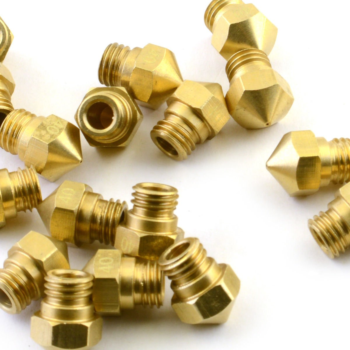 5Pcs Brass MK10 Extruder Nozzle 0.4mm for Wanhao CTC Flashforge 3D Printer