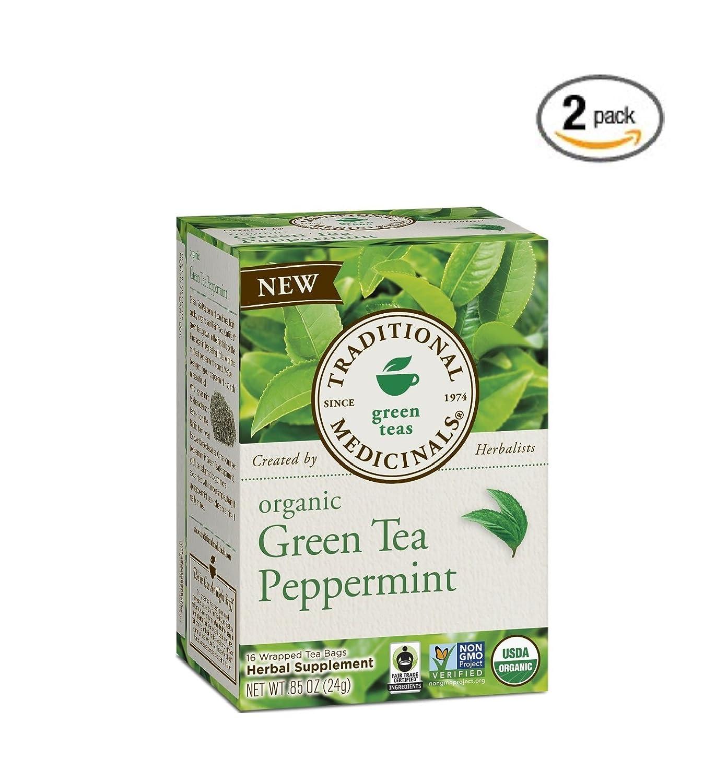Traditional Medicinals Tea Grn Peppermint Org