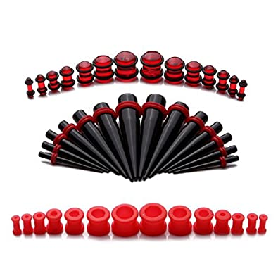 Kit de dilatadores de silicona para orejas, de 8G a 12 mm, 21 pares: Amazon.es: Joyería