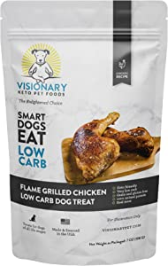 Low Carb Dog Treats by Visionary Pet | Keto Friendly | High Protein Biscuits for Small, Medium and Large Dogs | Grain-Free | Training Treats | Limited Ingredient | Chicken Recipe
