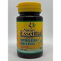 Olio di semi di lino 500 mg 50 capsule molli (Pack 2 u.)