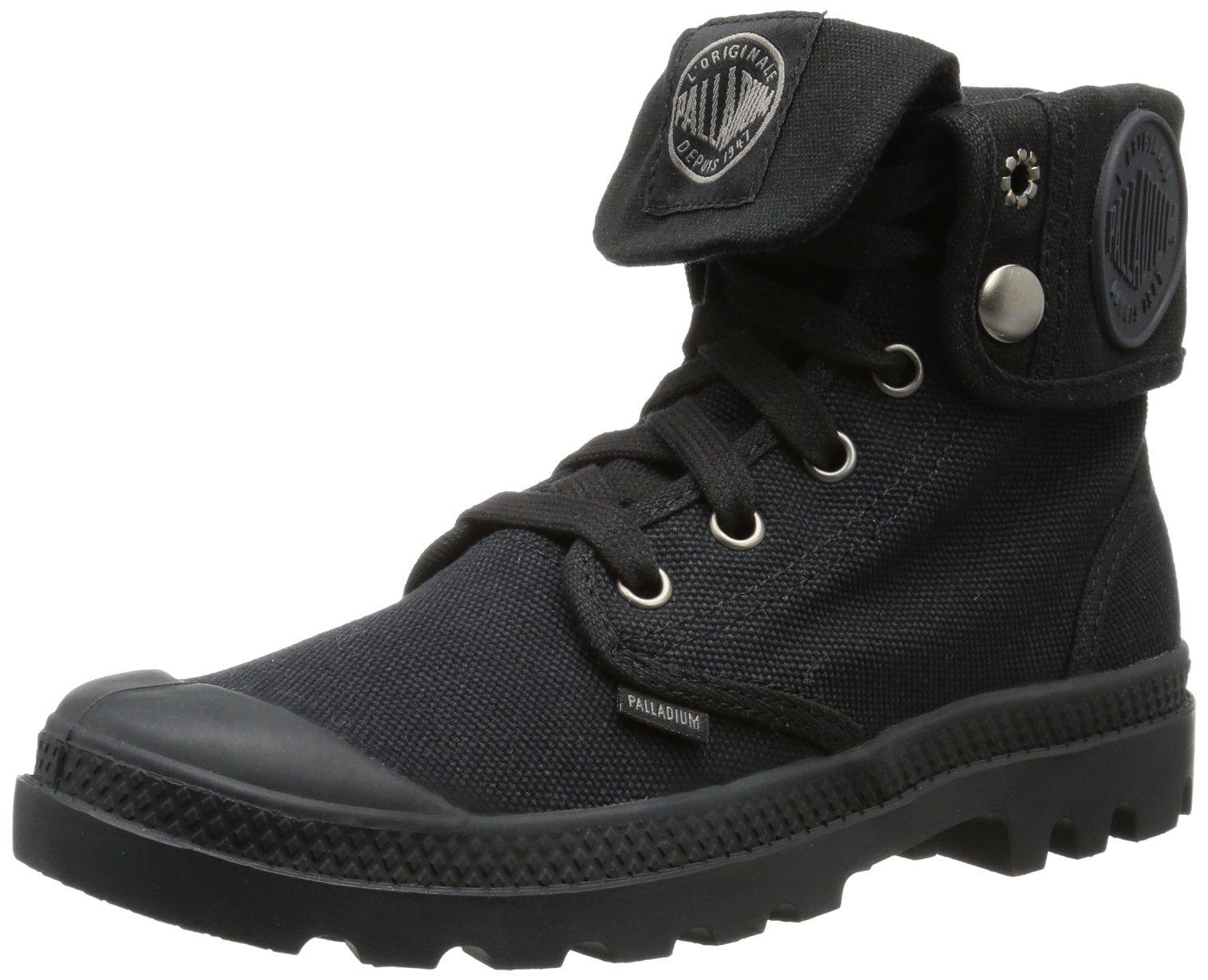 Palladium Women's Baggy Combat Boot, Black, 6 M US