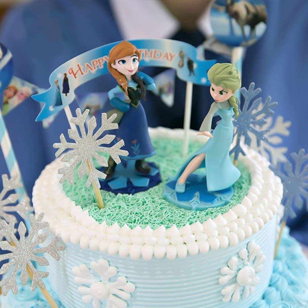 Flocon de Neige PuTwo D/écoration G/âteau Lot de 20 Figurine G/âteau Cupcake Pour Anniversaire Mariage F/ête Cake Topper