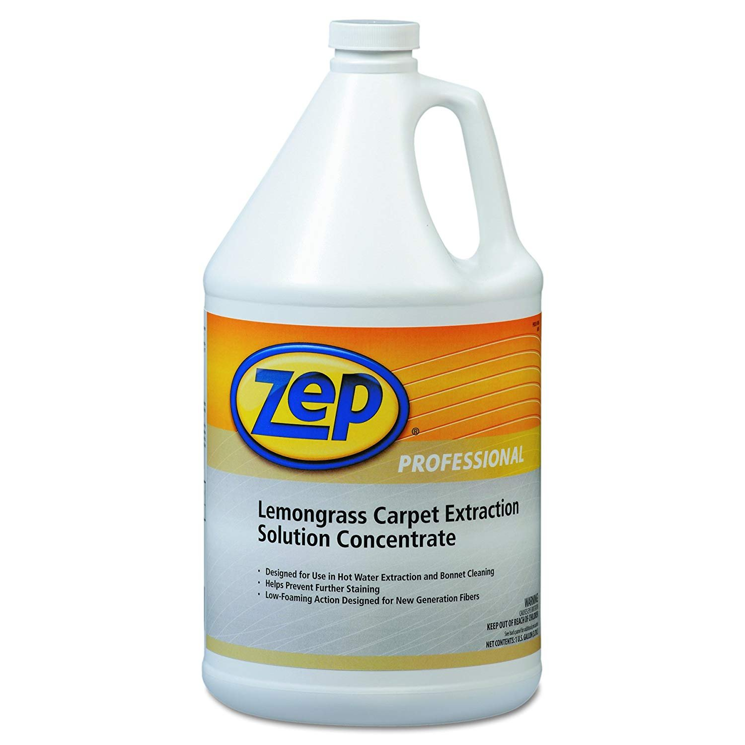 Zep Professional 1041398EA Carpet Extraction Cleaner, Lemongrass, 1 gal Bottle