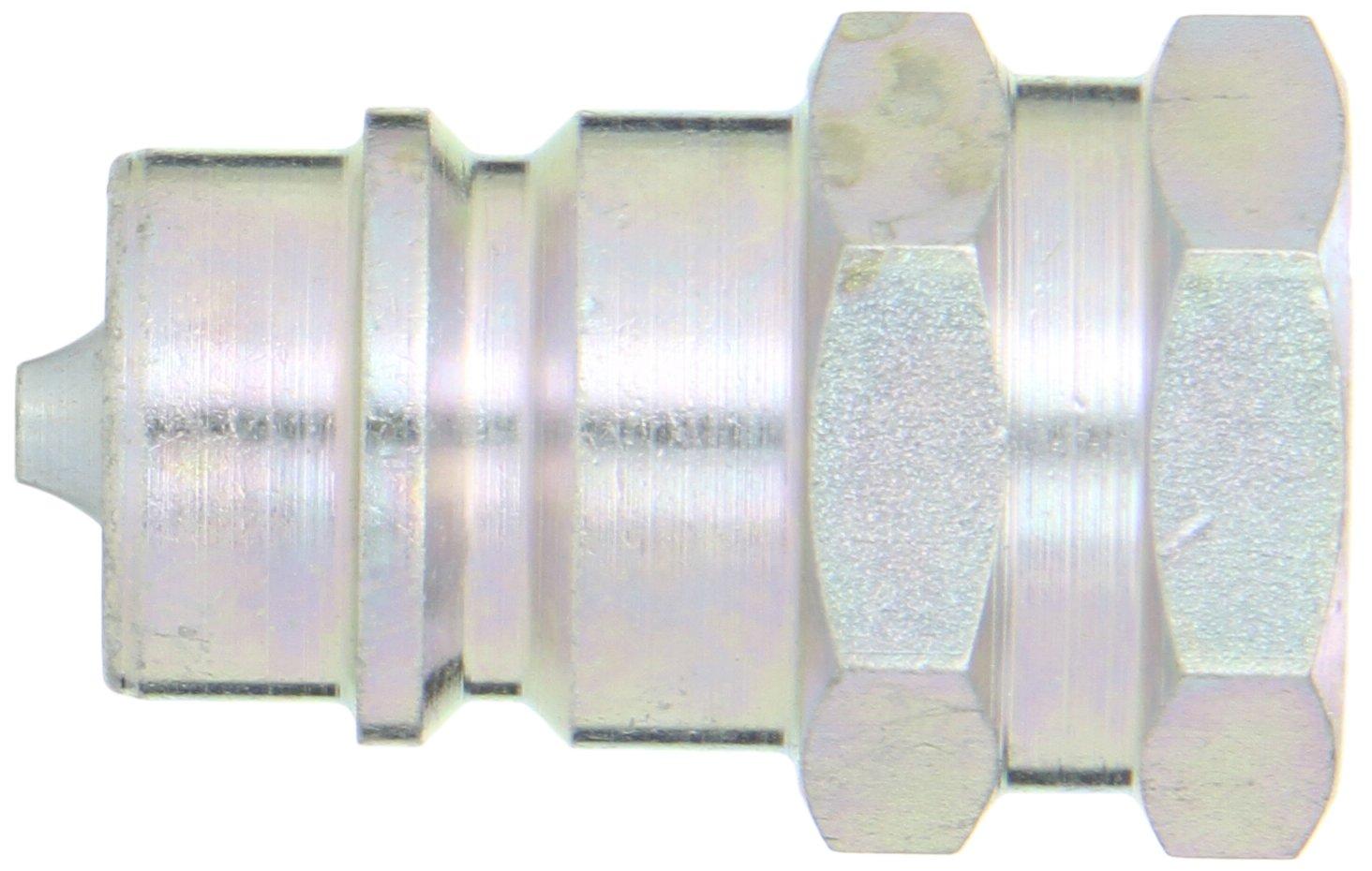 Dixon Valve K4F4 Steel ISO-A Interchange Hydraulic Fitting, Nipple, 1/2'' Coupling x 1/2'' - 14 NPTF Female Thread by Dixon Valve & Coupling (Image #2)