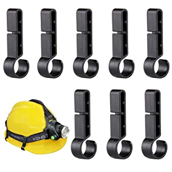 Juego de 8] Clips para cascos de construcción IDESION Gancho ...