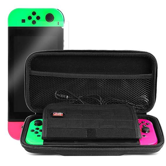 Funda para Nintendo Switch, [Oferta] EasySMX Bolsa Nintendo Switch para Viaje Rígida con más Espacio de Almacenamiento para 10 Tarjeta NDS, Oficial ...