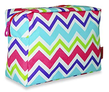 Amazon.com   Ever Moda Multi-color Chevron Cosmetic Pouch (Pink)   Beauty 42acf62764070