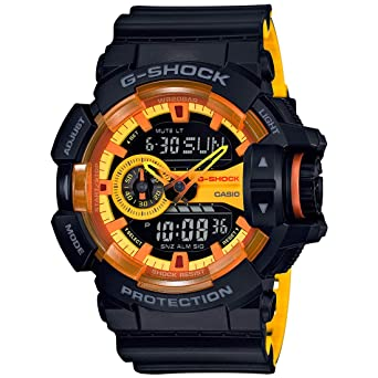 separation shoes 4620f 1eb1d Casio G-shock Analog Digital Black and Yellow Mens Watch With Date and 200  Meter Water Resistant GA400BY-1A