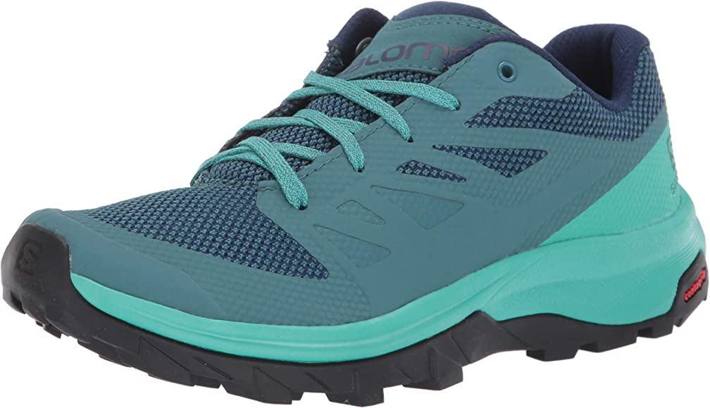 SALOMON Shoes Outline, Zapatillas de Trekking para Mujer, Azul (Hydro./Atlantis/Medieval Blue), 36 EU: Amazon.es: Zapatos y complementos