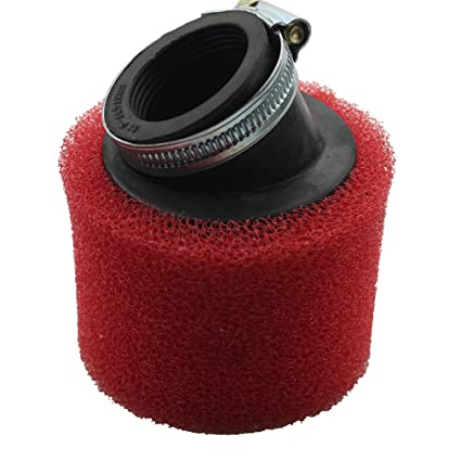 Red 38mm Bent Angled Foam Air Filter Pod 125cc Pit Quad Dirt Bike Atv Buggy Atv,rv,boat & Other Vehicle
