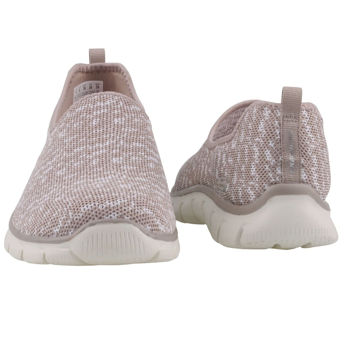 Skechers Damen Slipper - Empire Sweet Scene Beige/Weiß - Slipper a92b4d