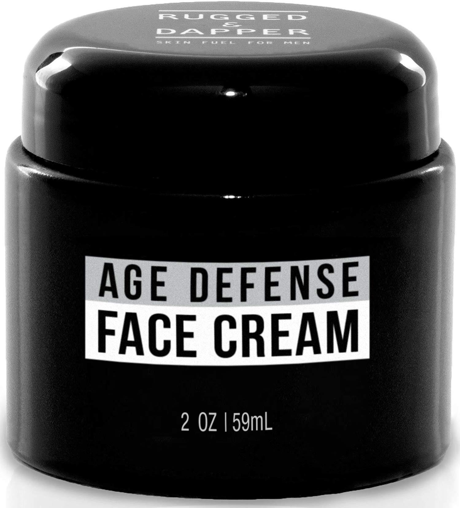 RUGGED & DAPPER Face Cream for Men, Anti-Aging Day and Night Cream, 2 Oz by RUGGED & DAPPER