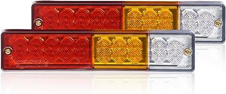 Eyourlife LKW R/ückfahrlicht LED R/ücklicht Blinker Heckleuchte R/ückfahrscheinwerfer LKW RV ATV