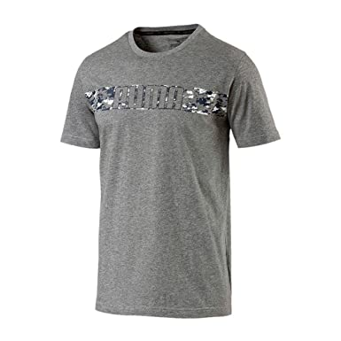 19c07a0c733785 Puma Men's T-Shirt Grey Grey: Amazon.co.uk: Clothing