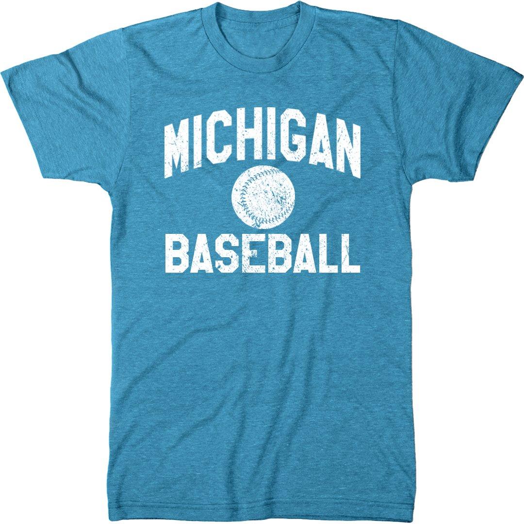 Michigan Baseball Modern T Shirt 9308