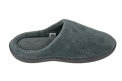 Moxo Men's Coral Fleece Bedroom Slippers/Footwear Memory Foam Clogs (Grey)  40-