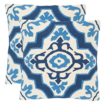 Safavieh Collection Marbella Marine Indoor/Outdoor Throw Pillows (20