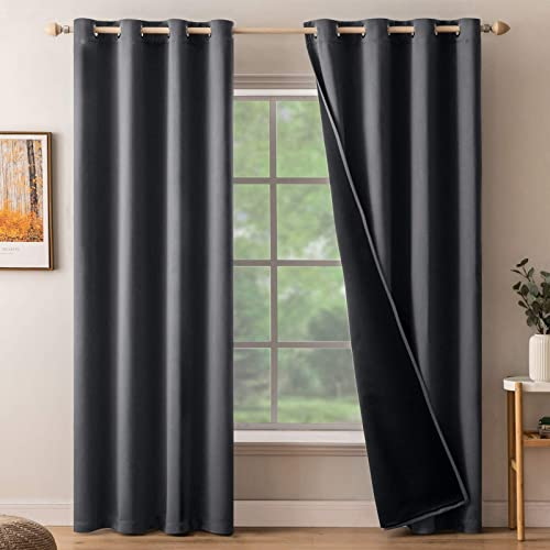 MIULEE Blackout Curtains Room Darkening Curtains 100 Light Blocking Thermal Insulated Window Curtain Drape