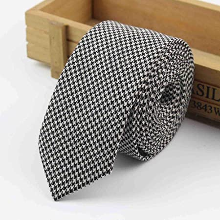 Gentle Corbata de Lana 100% Color clásico Corbata Gris Negro ...