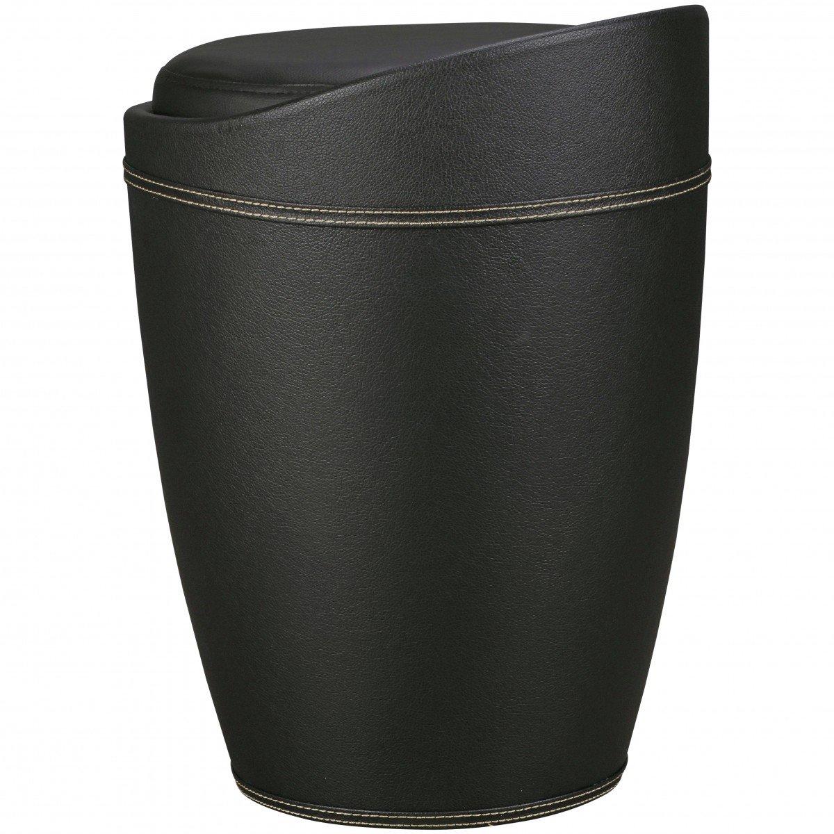 FineBuy Wäschebehälter STORE Wäschekorb Farbe Schwarz ...