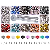 Yakamoz 300 Set 6mm 1/4 Inch Multi-Color Grommets Kit Metal Eyelets Set with Installation Tool for DIY Project Craft…