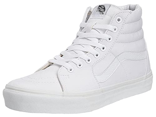 050d14dc88 Vans SK8 Hi White Canvas Unisex Trainers Boots  Amazon.co.uk  Shoes ...