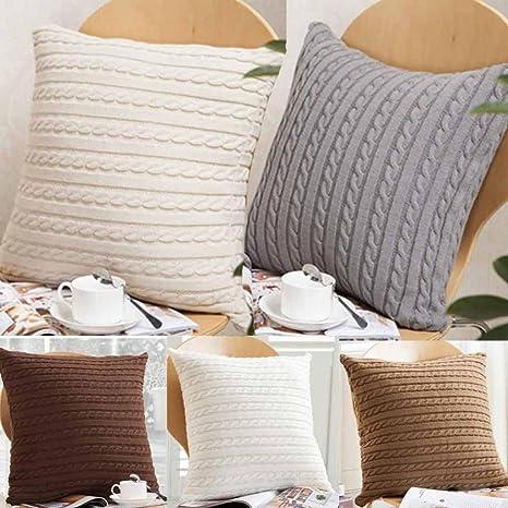 sansee tejer Fashion manta fundas de almohada de café sofá ...