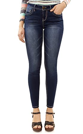 8ac1e22d4f942 WallFlower Women's Juniors High Rise Irresistible Denim Jegging in Camila  Size: 0