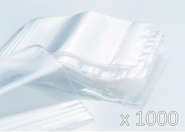 Sachets Zip transparent - Lot de 1000 (10 x100 sachets) - épaisseur 50 microns - Haute qualité - tailles au choix (40mm x 60mm) LC NEGOCE