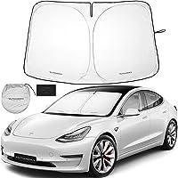 Autoamerics 1-Piece Windshield Sunshade Specially Designed for Tesla Model 3 and Y - Best Foldable Lightweight M3 Sun…