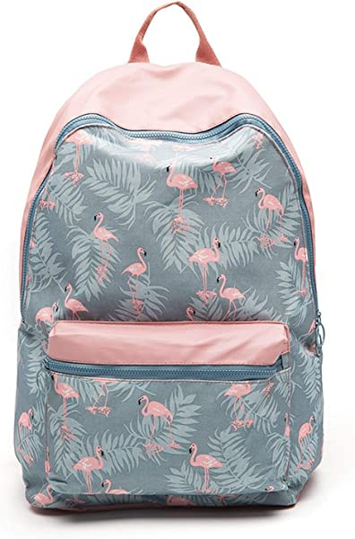 Amazon.com: Cartoon Printing Backpack Stitching Floral Casual Daily Travel Bag Teenagers School Bag Mochila: Shoes