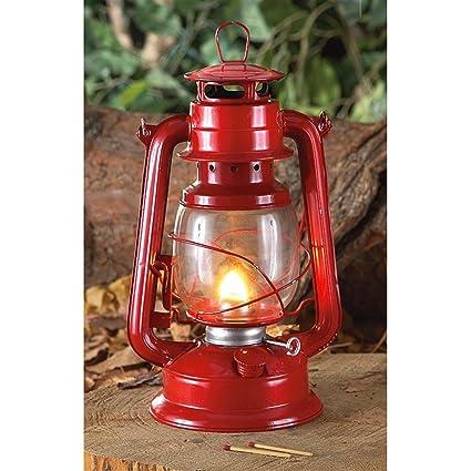 High Quality Red Hurricane Camping Kerosene Lantern