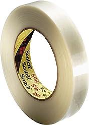 3M Scotch Filament Tape 898, 24 mm x 55 m, Clear (Pack of