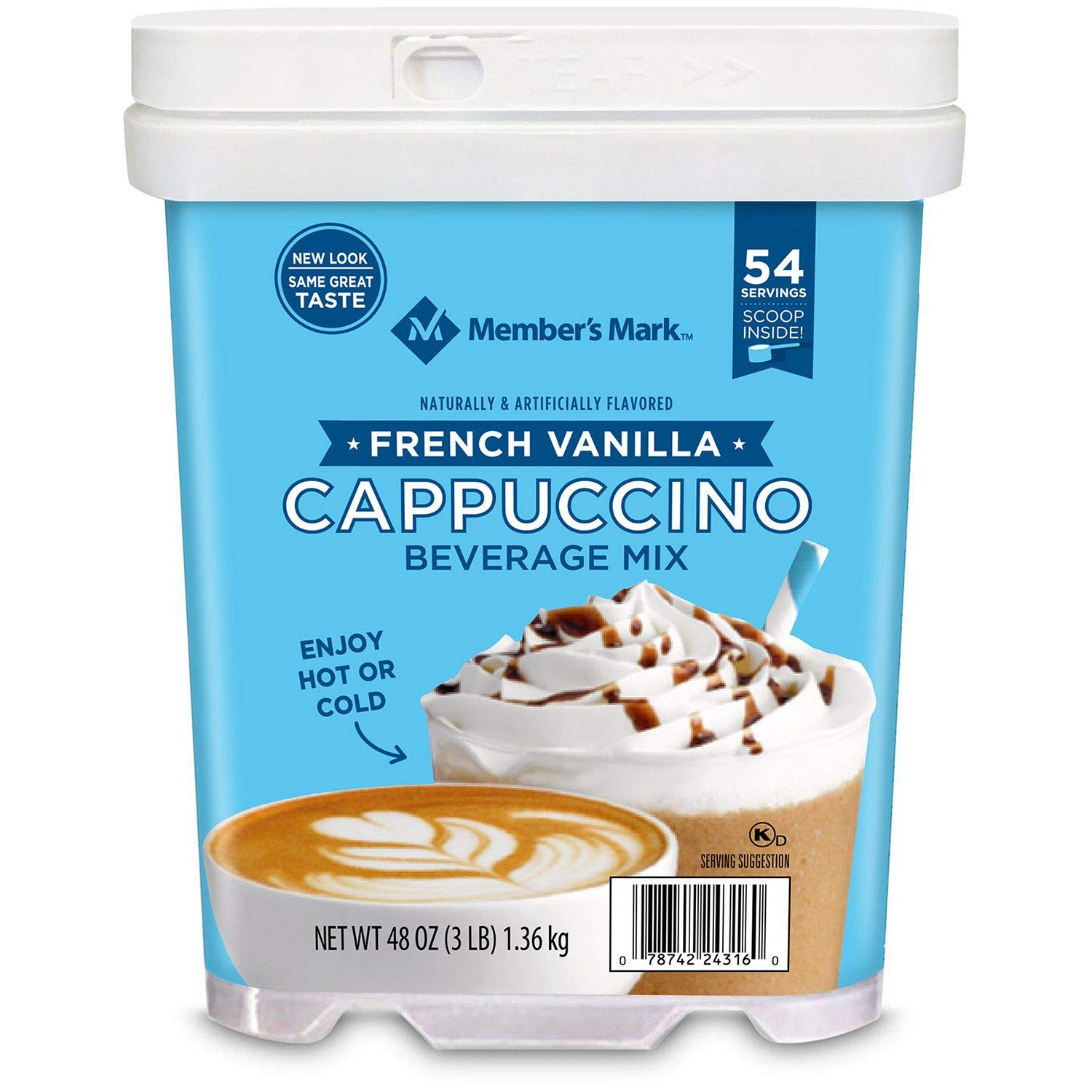 Member's Mark French Vanilla Cappuccino Beverage Mix 48 oz. (pack of 3) A1