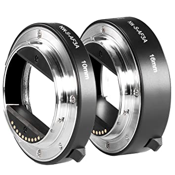 Neewer® Metal AF Auto-focus Macro Extension Tube Set 10mm&16mm for Sony NEX E-mount Camera NEX 3/3N/5/5N/5R/A6000/A6300 and Full Frame A7 A7S/A7SII ...
