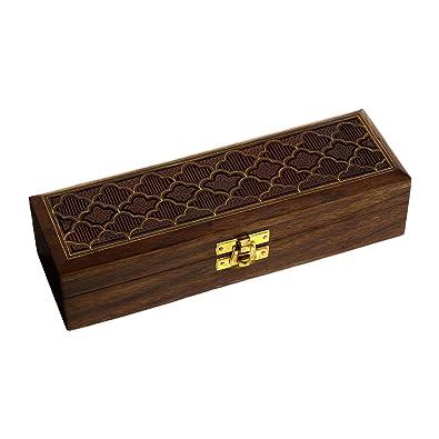 Regalos originales para mujeres caja de joyas hechas a mano en madera tallada: Amazon.es: Joyería