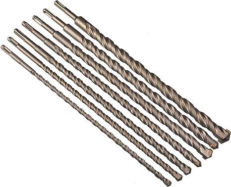 10,12,14,16,20,22/y 25/x 400/mm 7/piezas hormig/ón broca con alojamiento SDS Plus/ /Broca para hormig/ón