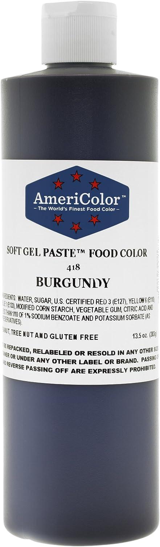 BURGUNDY 13.5 Ounce Soft Gel Paste Food Color