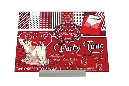 Soporte impresión del arte Fotografias Chica Sexy Party Time Liquor Cartel Letrero