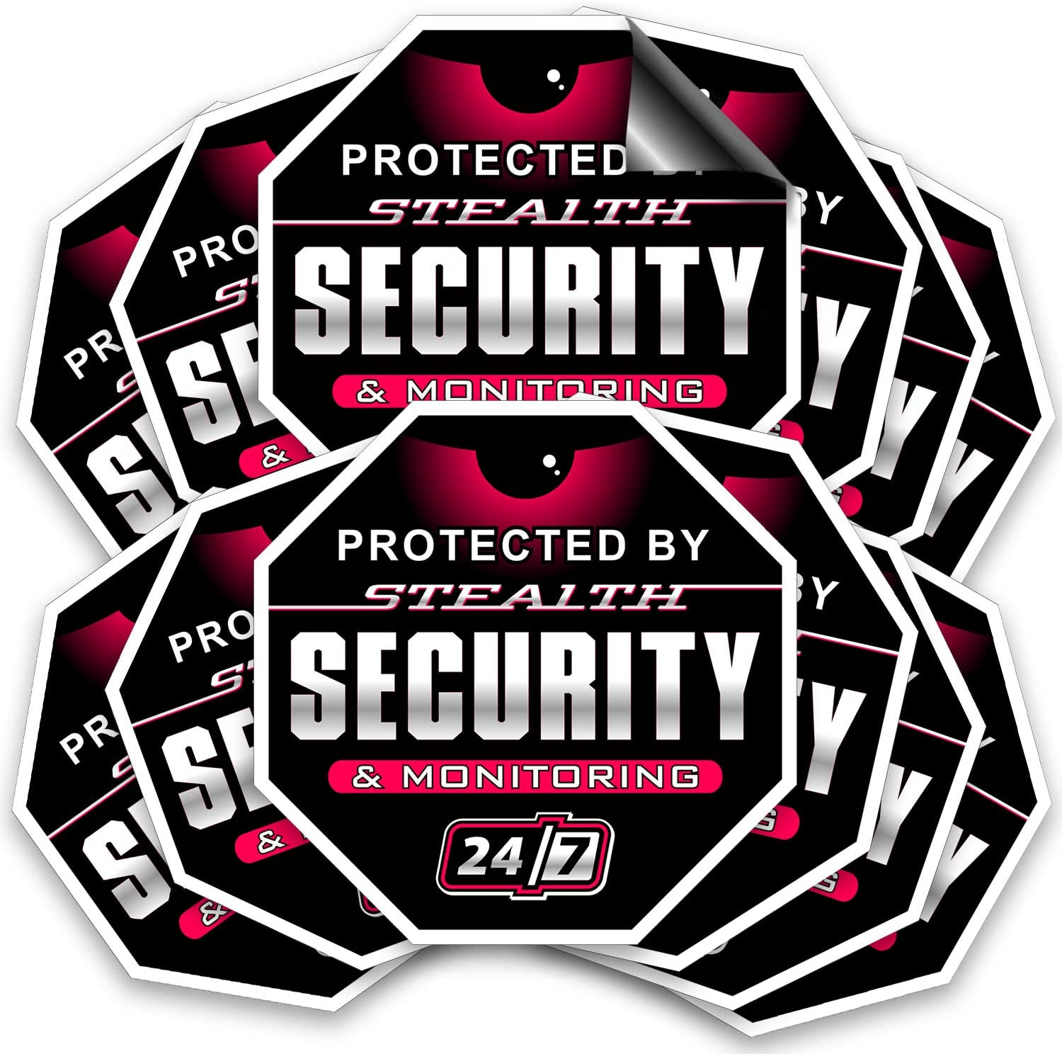 Large Aluminum Warning 24 Hour Surveillance Metal Sign, Trespassers Will be prosecuted, Security CCTV Camera Sign | 12