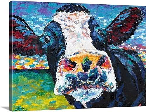 Curious Cow II Canvas Wall Art Print
