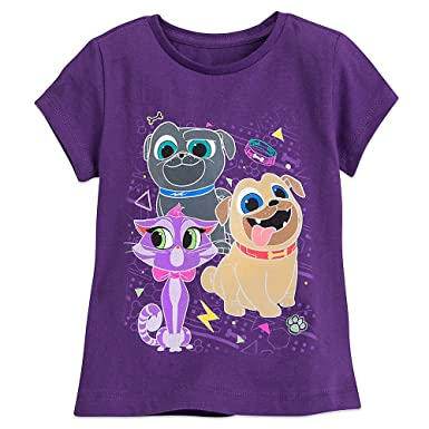 c3664090f9ab Amazon.com: Disney Puppy Dog Pals T-Shirt For Girls Purple: Clothing