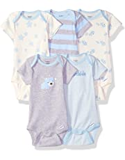 d29736027 Gerber Baby Boys' 5-Pack Organic Short-Sleeve Onesies Bodysuit