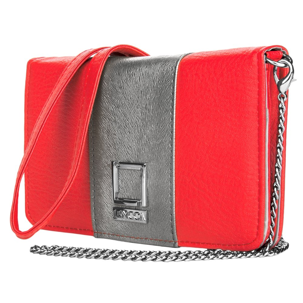 Women's Wallet Clutch Pink / Silver for Xiaomi by BestPriceCenter