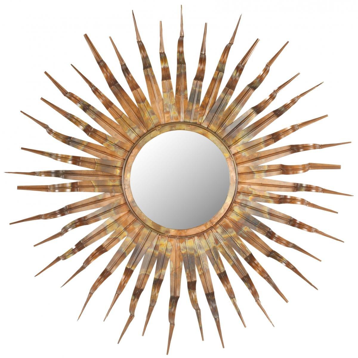 Safavieh Home Collection Sun Mirror, Copper