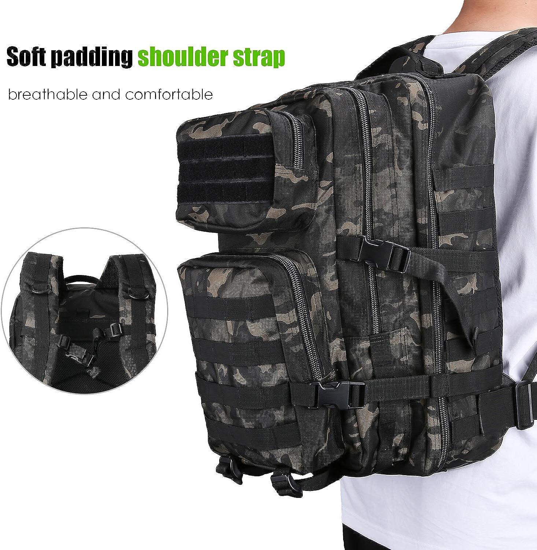 Gro/ße Kapazit/ät 3 Tage Armee Assault Pack Bug Out Bag Go Bag Rucksack f/ür Wandern Jagd ProCase Milit/är Taktische Rucksack Trekking und Camping und andere Outdoor Aktivit/äten